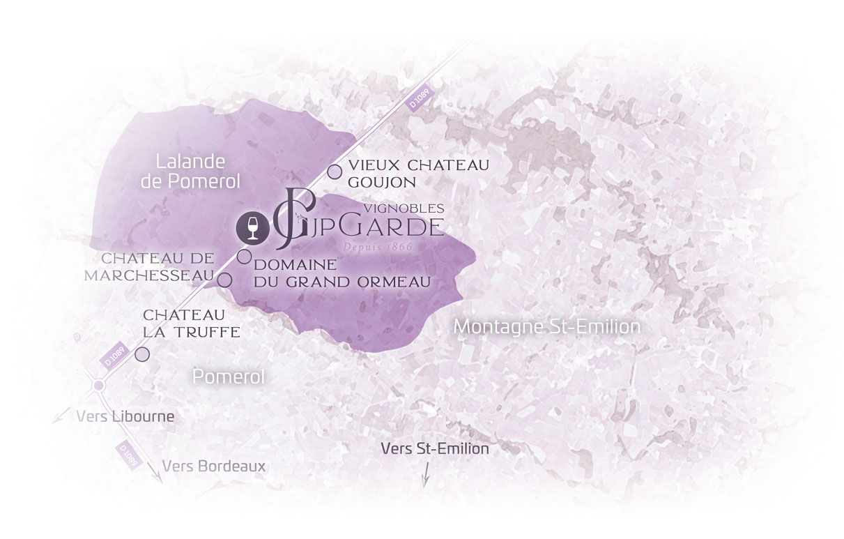 Carte Lalande de Pomerol