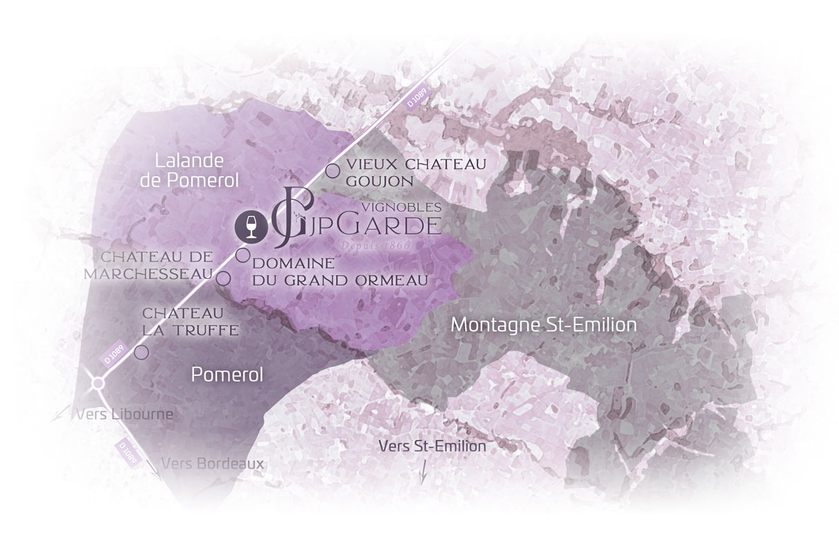 JP Garde : Three appellations for our range (map)